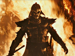 A Samurai emerges from the flames in top action 2013 film 47 Ronin