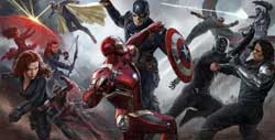 Chris Evans as Captain American and Robert Downey Jr. as Iron Man lead the charge for their sides in the top action fantasty movie of 2016, Captain America: Civil War