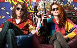 Jesse Eisenberg and Kristen Stewart chill in the 2015 top action comedy American Ultra.