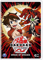 Bakugan: Battle Planet - Origin of the Species DVD Cover