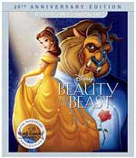 Beauty and the Beast: 25th Anniversary Edition Blu-Ray Cover