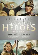 DVD Cover for Greatest Heroes of the Bible: Volumes One, Tow and Three
