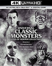 Universal Classic Monsters Icons of Horror Collection 4K Blu-Ray Cover