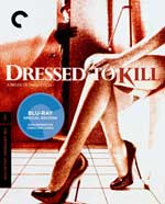 Criterion Collection Blu-Ray cover for Dressed to Kill