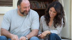 James Gandolfini and Julia Louis-Dreyfus in the top 2013 comedy Enough Said