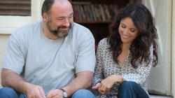 James Gandolfini and Julia Louis-Dreyfus in the top 2013 comedy Enough Said