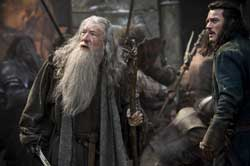 Ian McKellon and Luke Evans fight the good fight in the top fantasy film of 2014 The Hobbit: The Battle of the Five Armies