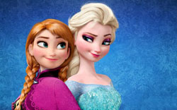 The world's most popular animated sisters: Elsa and Anna, from the world's highest-grossing animated film, Frozen.