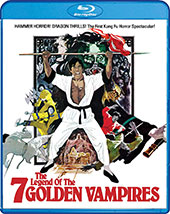 The Legend of the 7 Golden Vampires Blu-Ray Cover