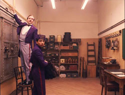 Ralph Fiennes and Tony Revolori have a plan in Wes Anderson's top 2014 drama The Grand Budapest Hotel