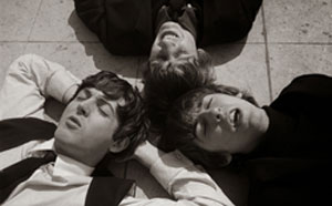 Paul McCartney, George Harrison and Ringo Starr lay down to rest after A Hard Day's Night.