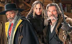 Samuel L. Jackson, Jennifer Jason Leigh and Kurt Russell join a sublime band of ne'er-do-wells in the top 2015 Western The Hateful Eight.
