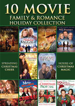 DVD Cover for the 10 Movie Holiday Romance Pack