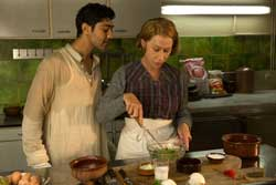 Manish Dayal and Helen Mirren in the feel-good foody top 2014 drama, The Hundred-Foot Journey.