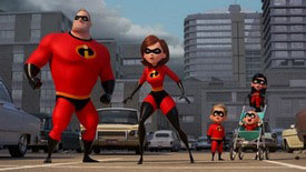 Craig T. Nelson, Holly Hunter, Huck Milner and Sarah Vowel voice a truly super family in the top 2018 animated movie Incredibles 2.