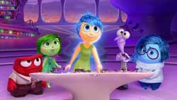 The emotions get their day in the top 2015 animated film Inside Out.