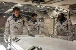 Matthew McConaughey, Anne Hatheway and David Gyasi explore the final frontier in the top 2014 sci-fi film Interstellar.