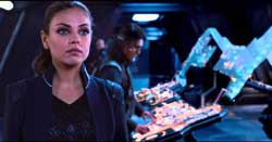 Mila Kunis gets caught up in an interstellar adventure in the top 2015 sci-fi film Jupiter Ascending.