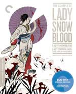 The Criterion Collection Blu-Ray Cover for The Complete Lady Snowblood