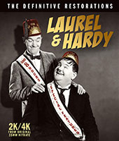 Laurel & Hardy: The Definitive Restorations Blu-Ray Cover
