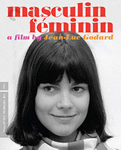 Masculin féminin Criterion Collection Blu-Ray Cover