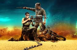 Tom Hardy and Charleze Theron set the wasteland ablaze in the top action movie of 2015, Mad Max: Fury Road