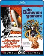 Murders in the Rue Morgue and The Dunwich Horror Double Feature Blu-Ray Cover