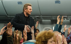 Liam Neeson is an air marshal on a mission in the 2014 top action film, Non-Stop.