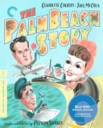 Criterion Collection Blu-Ray Cover for The Palm Beach Story