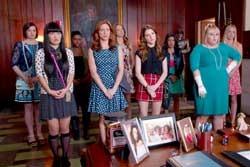 The Barden Bellas (including Anna Kendrick and Rebel Wilson) are back, Pitches, in the 2015 top comedy Pitch Perfect 2.