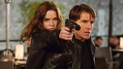 Tom Cruise and Rebecca Ferguson are a true dynamic duo in the top 2015 action movie Mission: Impossible - Rogue Nation
