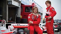 Chris Hemsworth and Daniel Bruhl in the top 2013 drama Rush