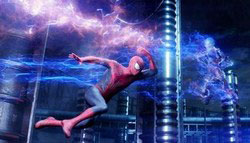 Andrew Garfield faces off against Jamie Foxx in the top action movie of 2014, Spider-Man 2