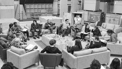 An early meeting between the actors and director of the upcoming Star Wars: Episode VII film.