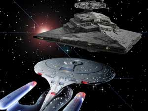 Star Wars and Star Trek together at last.