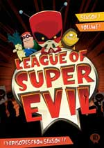 League of Super Evil Season 1, Volumes 1 and 2 DVD Cover