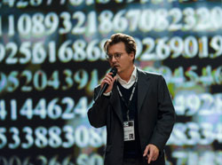 Johnny Depp gets a bit technical in the top sci-fi 2014 film Transcendence.