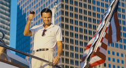 Leonardo DiCaprio is a study of excess in the 2013 top drama film Wolf of Wall Street.