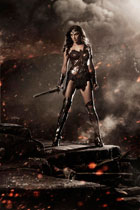 Gal Gadot as the iconic Wonder Woman in Dawn of Justice