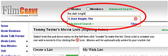 Add Movies to Your Movie List